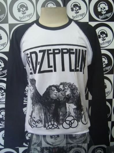 Camiseta manga longa raglan Led Zeppelin