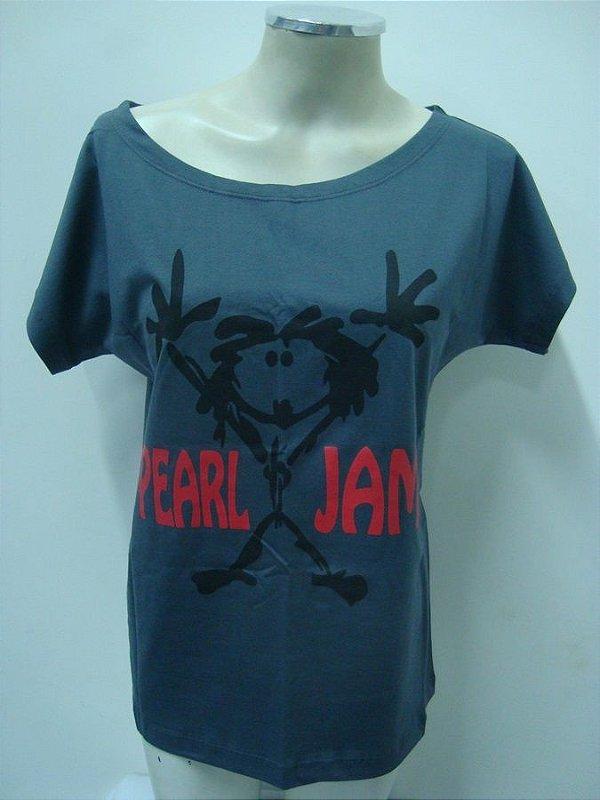 Blusinha gola canoa - Pearl Jam