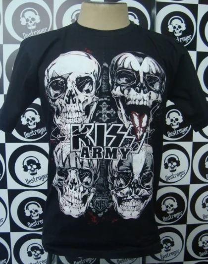 Camiseta Kiss - Army