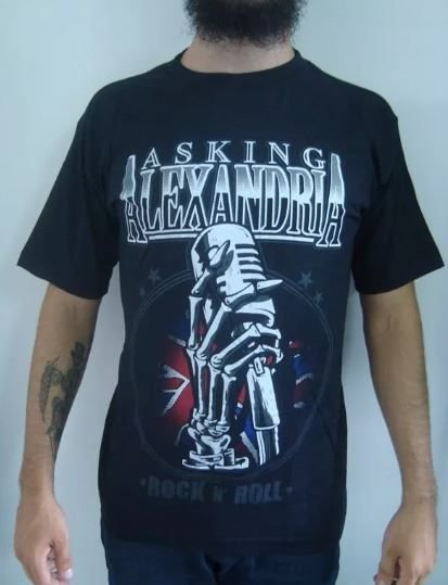 Camiseta Asking Alexandria - Rock and Roll