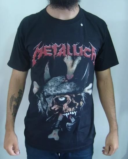Camiseta Metallica - Skull