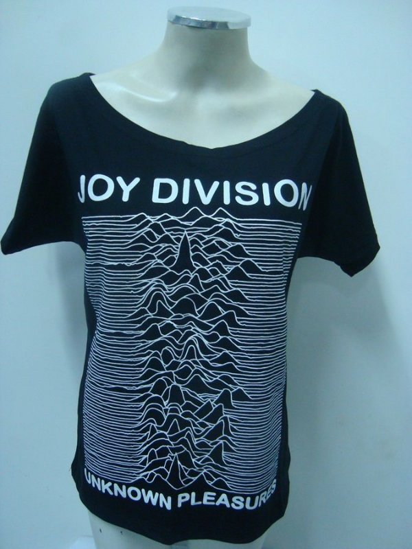 Blusinha gola canoa Joy Division - Unknow Pleasures