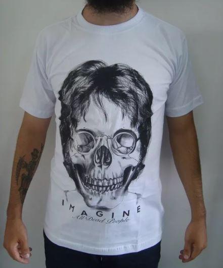 Camiseta John Lennon - Imagine all dead people