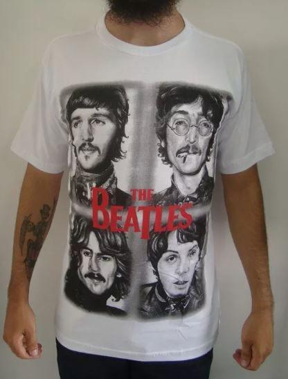 Camiseta The Beatles - Rostos