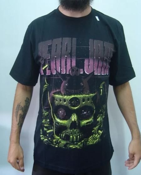 Camiseta Pearl Jam - Caveira