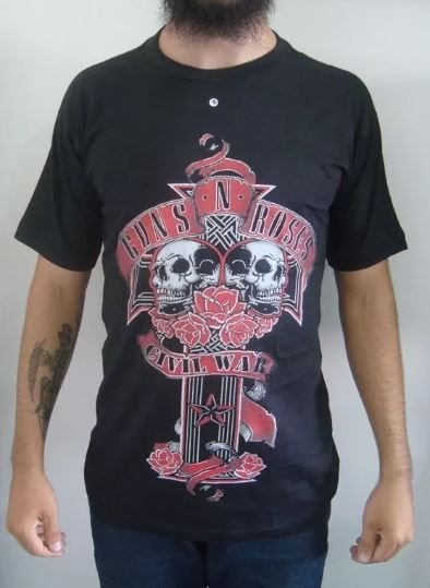 Camiseta Guns and Roses - Civil War