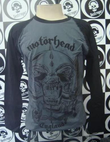Camiseta Manga Longa Raglan - Motorhead