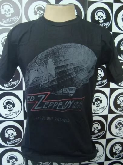 Camiseta Led Zeppelin - 1977