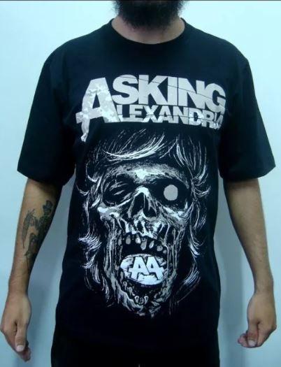 Camiseta Asking Alexandria - A4 - Caveira