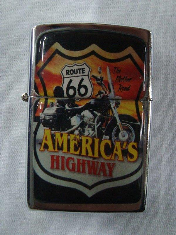 Isqueiro - Rota 66 - America's Highway