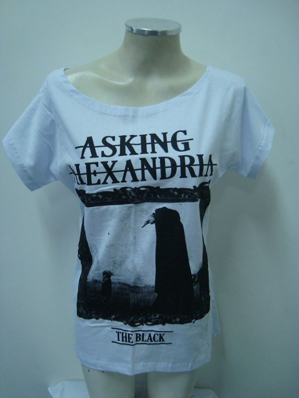 Blusinha gola canoa Asking Alexandria - The Black
