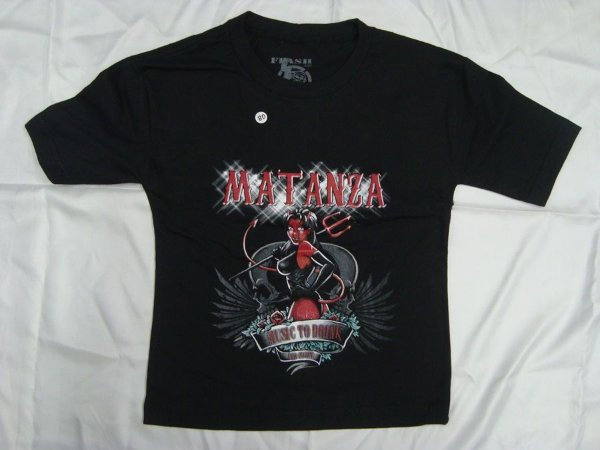 Camiseta Infantil Matanza - Music to drink and fight