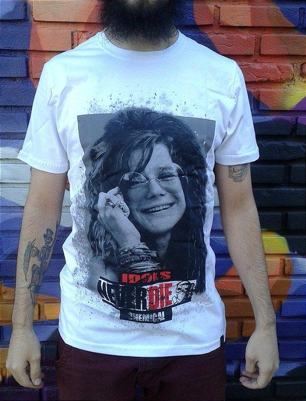 Camiseta Idols Never Die - Janis Joplin