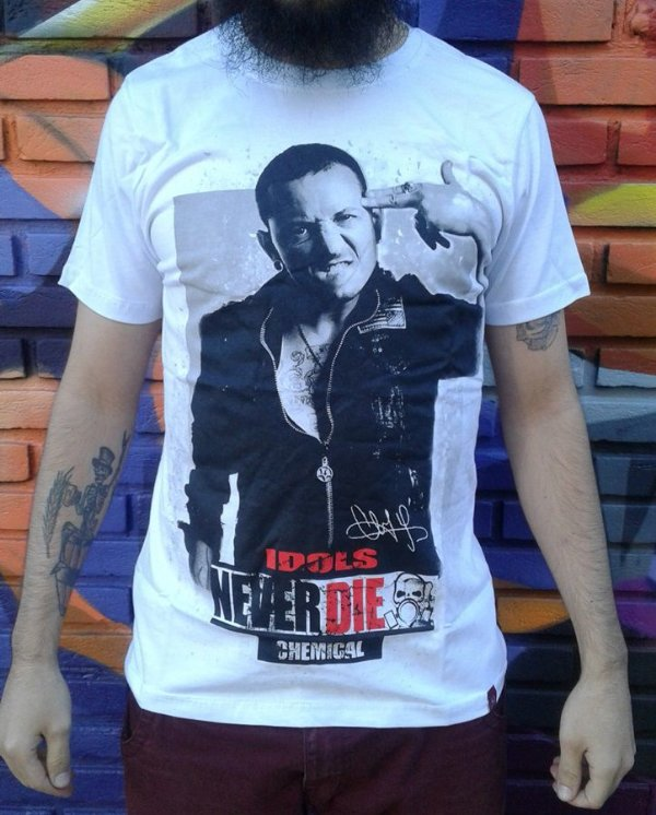 Camiseta Idols Never Die - Chester Bennington - Linkin Park