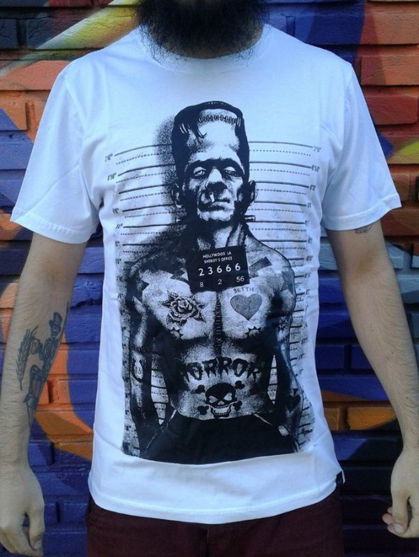 Camiseta Frankenstein - Horror Monster Wanted
