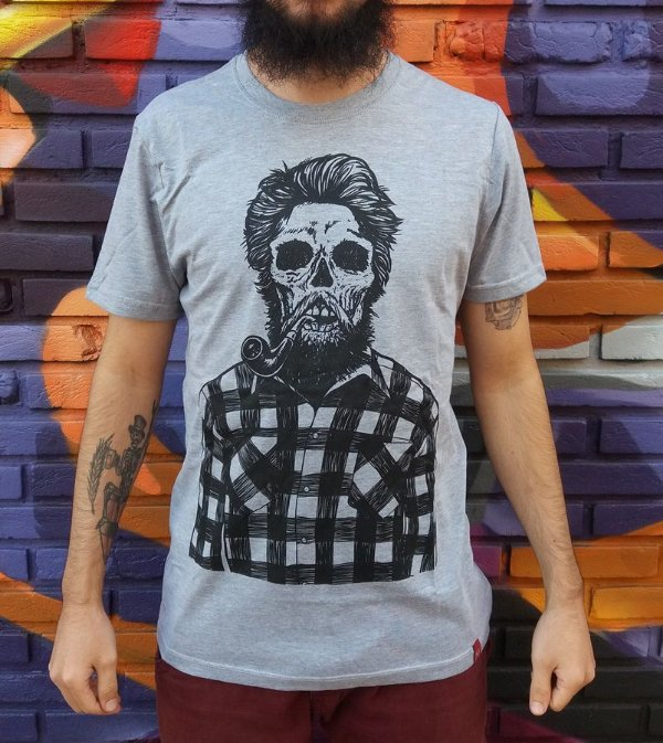 Camiseta Bearded Skull