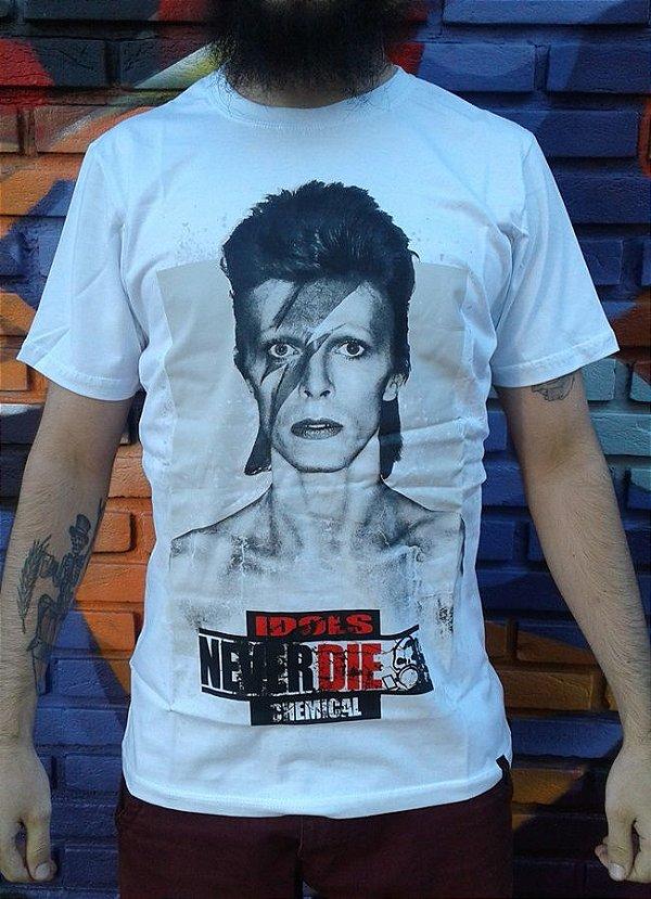 Camiseta Idols Never Die - David Bowie