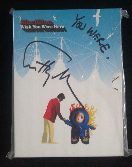DVD Marillion - Wish You Were Here - 4 DVD's Importado Autografado pelo Steve Hogarth