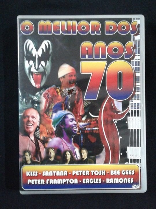 DVD O melhor dos anos 70 - Kiss, Santana, Peter Tosh, Bee Gees, Peter Frampton, Eagles, Ramones