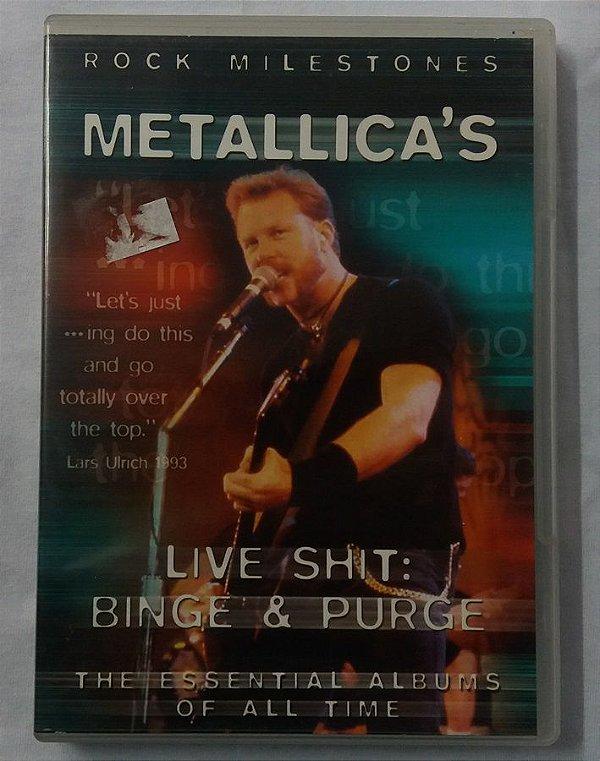 DVD Metallica - Live Shit - Binge & Purge