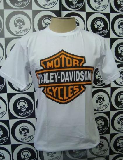 Camiseta Harley Davidson branca