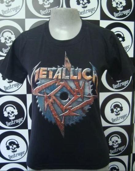 Baby look feminina Metallica