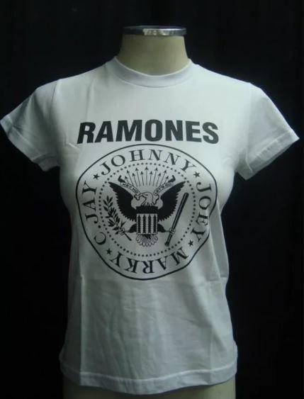 Baby look Ramones Símbolo Branca