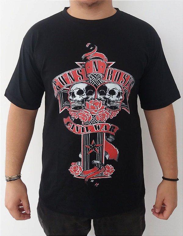 Camiseta Guns and Roses - Civil War