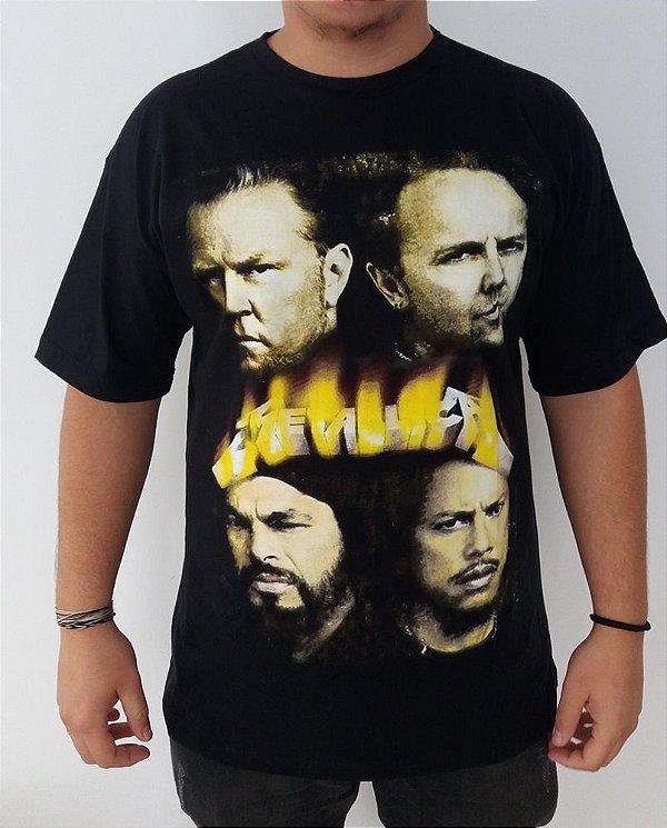 Camiseta Metallica - James, Kirk, Lars e Robert