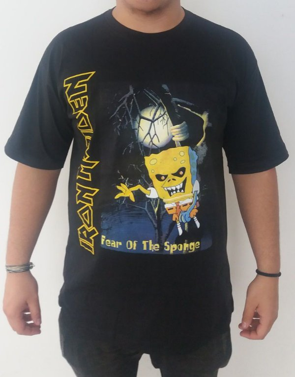 Camiseta Iron Maiden - Fear of the Sponge