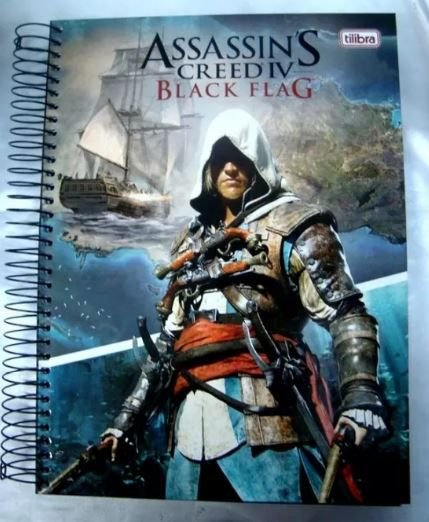 Caderno escolar 10 Matérias - Assassin's Creed
