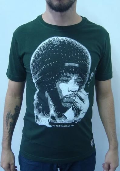 Camiseta Jimi Hendrix - Microfone Head