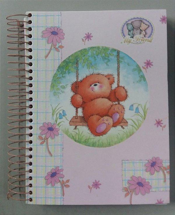 Caderno 15 Matérias - Ursinho My Friend