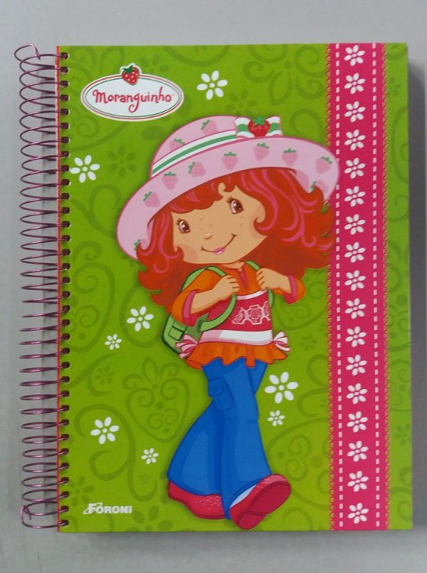 Caderno escolar - Moranguinho