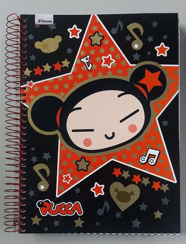 Caderno escolar 12 Matérias - Pucca