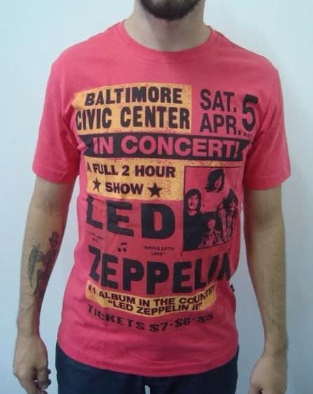 Camiseta Led Zeppelin - In Concert