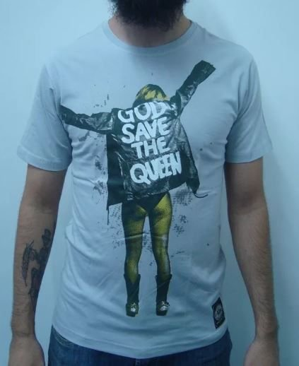 Camiseta God save the Queen - Cinza