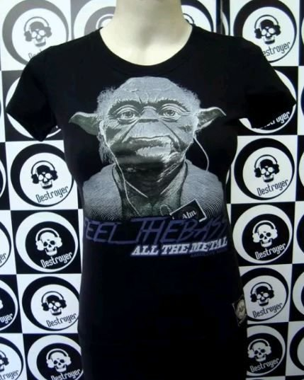 Baby look - Star Wars - Mestre Yoda - Feel the Bass
