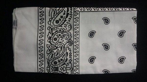 Bandana lenço tradicional Branca