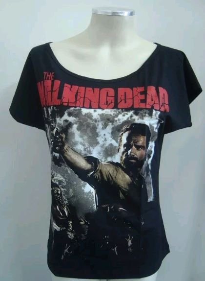 Blusinha gola canoa - The Walking Dead - Rick