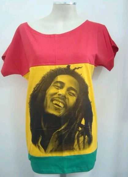 Blusinha gola canoa Bob Marley