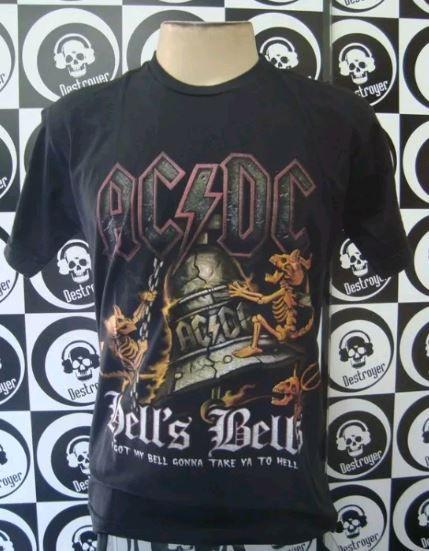 Camiseta AC DC - Hell's Bells