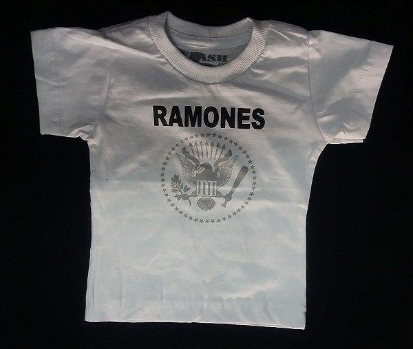 Camiseta Infantil Ramones Clássica Branca