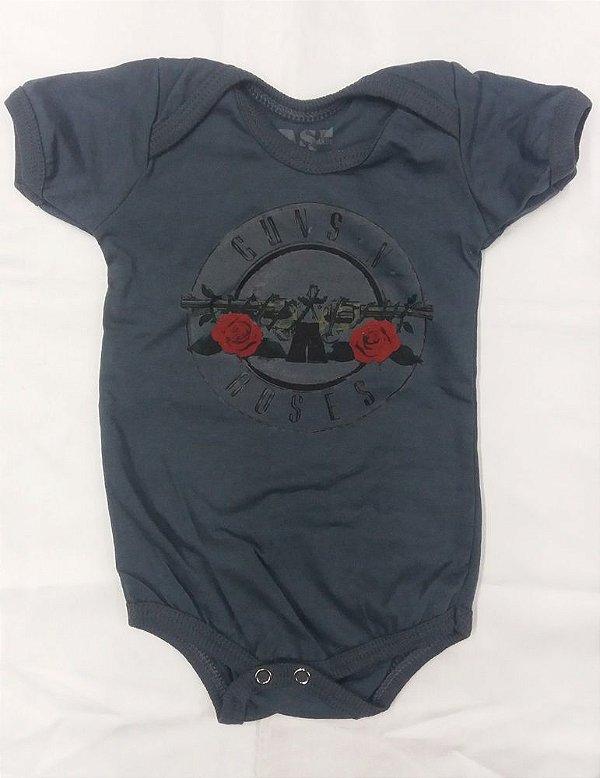 Body para bebês - Guns and Roses - Símbolo Cinza