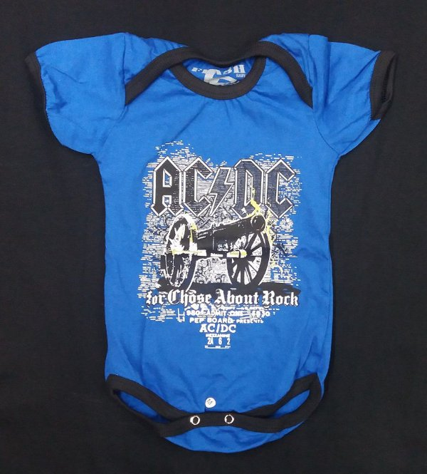 Body para bebês AC DC - For those about to rock