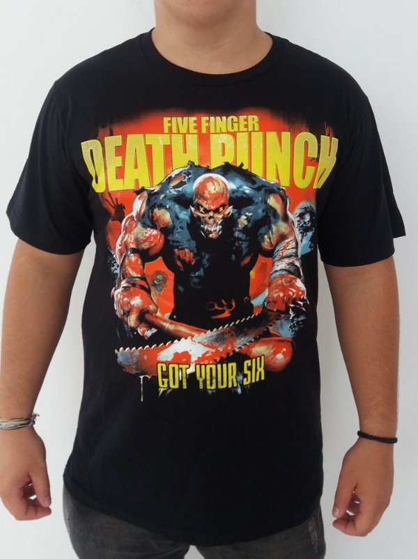 Camiseta Five Finger Death Punch - Got your six