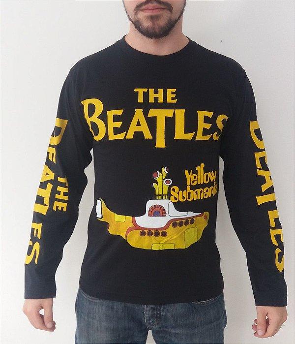 Camiseta manga longa The Beatles - Yellow Submarine