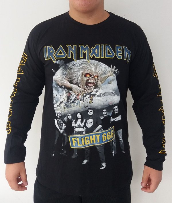 Camiseta manga longa Iron Maiden - Flight 666