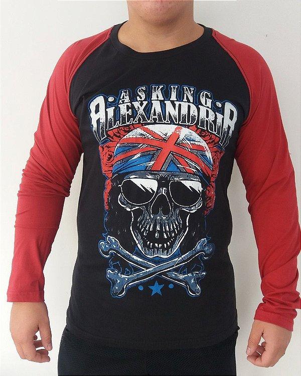 Camiseta manga longa raglan - Asking Alexandria AA