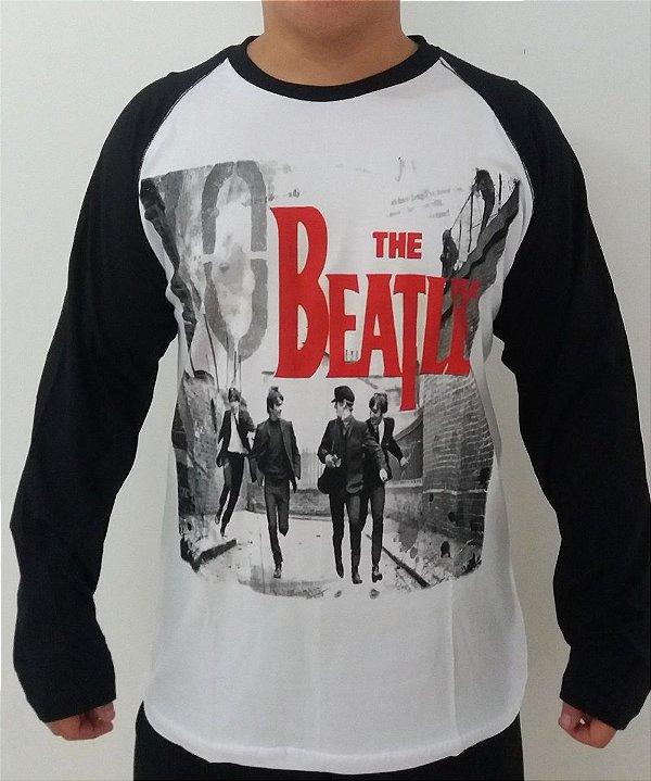 Camiseta manga longa raglan - The Beatles - A Hard days night